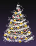 Christmas tree 2009. Christmas tree on dark purple background Stock Image