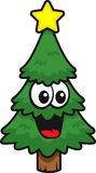Christmas Tree. A smiling Christmas tree with a star Stock Photo
