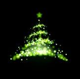 Christmas tree. Abstract green light Christmas tree Stock Photo