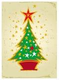 Christmas tree. Vector illustration of Christmas card with Christmas tree Royalty Free Stock Photos