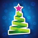 Christmas tree. Colorful illustration with decorated Christmas tree. Christmas theme Stock Photos
