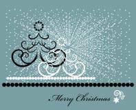 Christmas tree. With white snow Stock Image