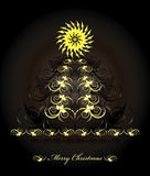 Christmas tree. With flower and curl Stock Photography