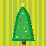 Christmas tree. Vector picture of christmas tree Stock Image