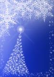 Christmas tree. White & Blue color Christmas background, illustration stock illustration
