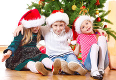 Beside Christmas tree Stock Image