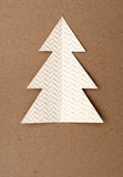 Christmas tree. Made of paper Royalty Free Stock Photo