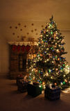 Christmas Tree. Presents under the tree stock photos