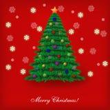 Christmas tree. Illustration. Best choice Stock Image