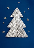 Christmas tree. Made ​​out of foil Stock Images