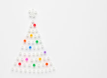 Christmas tree. Arranged from beads Royalty Free Stock Photos
