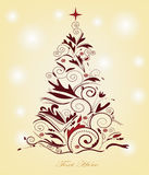 Christmas tree. Beautiful christmas tree with space for text Royalty Free Stock Photos