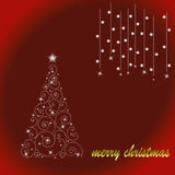 Christmas tree. Abstract background by illustrations Royalty Free Stock Photos