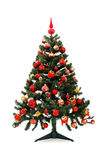 Before and after - Christmas tree stock image