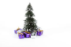 Christmas tree. With small presents Stock Photos