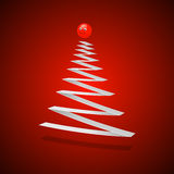 Christmas tree. Abstract illustration on red Stock Image