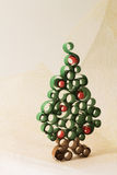 Christmas tree. From curled paper strip royalty free illustration