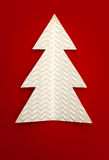 Christmas tree. Made of paper Royalty Free Stock Image