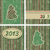 Christmas tree. Set of Christmas and New Year cards, Vector illustration royalty free illustration