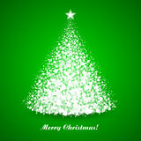 Christmas tree. White Christmas tree vector illustration Stock Photo