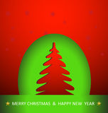 Christmas tree. Easy color and text editable stock illustration