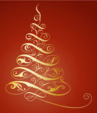 Christmas tree. Illustration of elegant christmas tree Stock Images