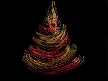 Christmas tree. Abstract Christmas tree of glowing lines Royalty Free Stock Photography