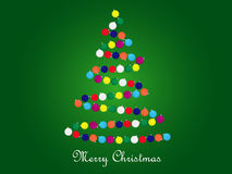 Christmas tree. Vector christmas tree from colores baubles Stock Images