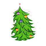 Christmas tree. Illustration of beautiful Christmas tree royalty free illustration
