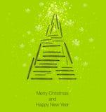 Christmas tree. Modern art design vector illustration