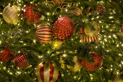 Christmas tree. A Christmas tree with beautiful decorations Royalty Free Stock Images