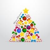 Christmas tree. Beautiful illustration of abstract Christmas tree Stock Images