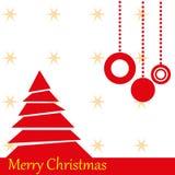 Christmas tree. Red Christmas tree with stars Stock Illustration