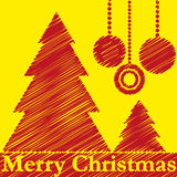 Christmas tree. Vector illustration of Christmas trees with decoration stock illustration