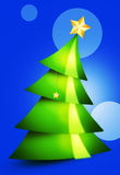 Christmas Tree. Green Christmas tree in the woods Stock Images