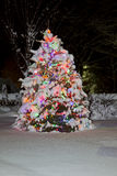 Christmas Tree. A Christmas Tree lighting at the night Royalty Free Stock Images