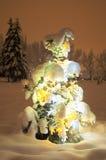 Christmas tree (3). Lighting christmas-tree at night. Outdoor. Almaty city park. (3 Royalty Free Stock Images
