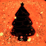 Christmas tree. Background for Christmas with snowflakes and ornaments Royalty Free Stock Image