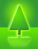 Christmas tree. Plastic Christmas tree. Spruce Vector Illustration