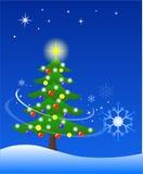Christmas tree. Decorated Christmas tree on Christmas night Royalty Free Stock Image