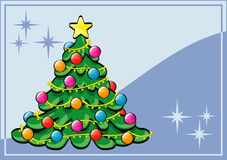 Christmas tree. A nicely decorated Christmas tree Royalty Free Stock Image