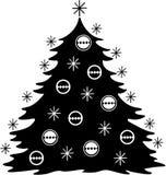 Christmas Tree. Stylized Christmas Tree - Vector Image Stock Image