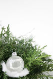 Christmas tree. Christmas decoration on white background Royalty Free Stock Photo