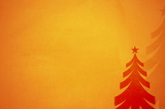 Christmas tree. On old paper background for your messages and designs Royalty Free Stock Images