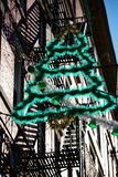 Christmas tree. A christmas tree in little italy (NY Royalty Free Stock Photo