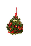 Christmas-tree. Decorate Christmas-tree ,isolated, red and gold Stock Images