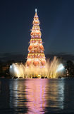 Christmas Tree. Gigantic Christmas Tree in the middle of a lake in Rio de Janeiro, Brazil stock photography