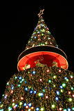 Christmas tree. A huge colorful christmas tree royalty free stock image