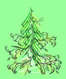 Christmas tree. Vector illustration without gradients Royalty Free Stock Photography