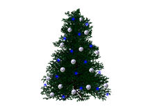 Christmas tree. Created with 3d studio max and rendered royalty free illustration
